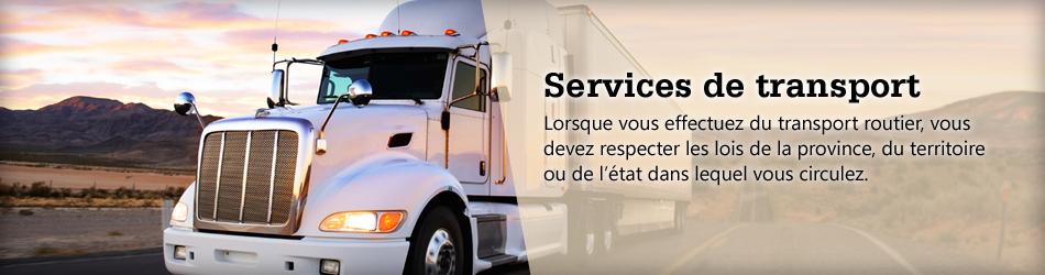 Services de transport.
