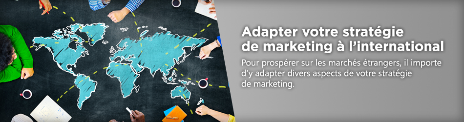 Stratégie de marketing à l'international.